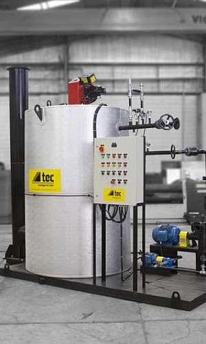 Aquecedor de fluido térmico para metalúrgicas