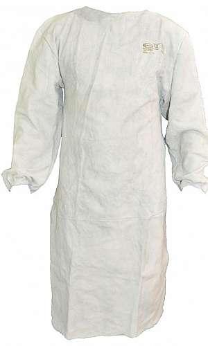 Avental de raspa com manga para soldador