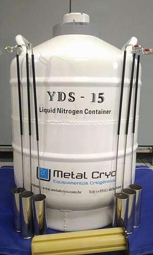 botijão de nitrogênio para sêmen