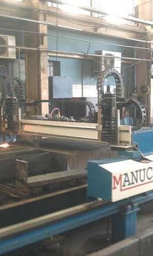Manutenção de máquina de oxicorte