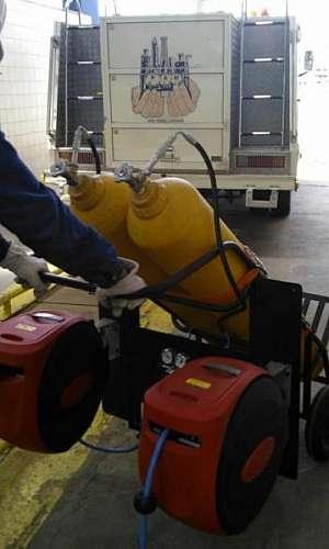 Manutenção em máquinas de ar mandado