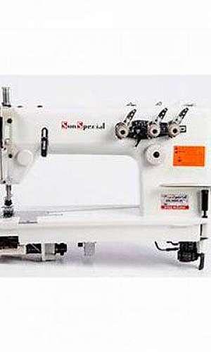 Máquina de costura industrial 2 agulhas ponto corrente