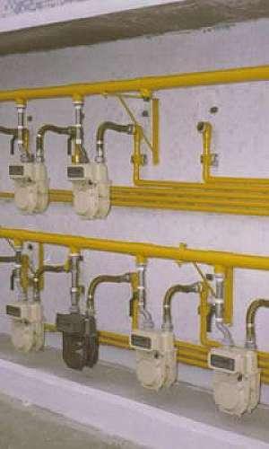 Montagem de tubulação de gás
