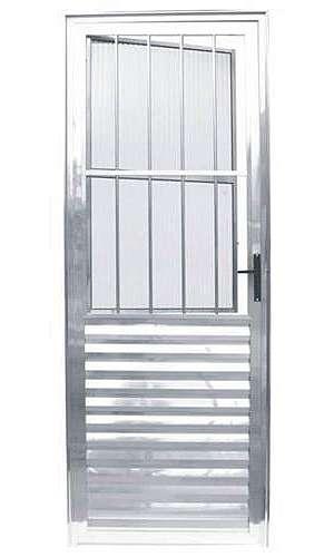 Porta social de alumínio