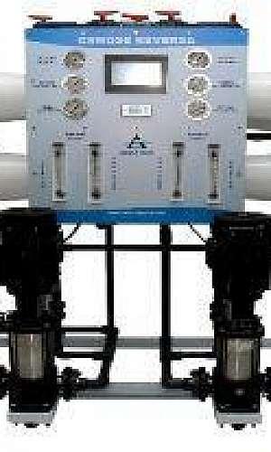 Sistema de tratamento de água osmose reversa